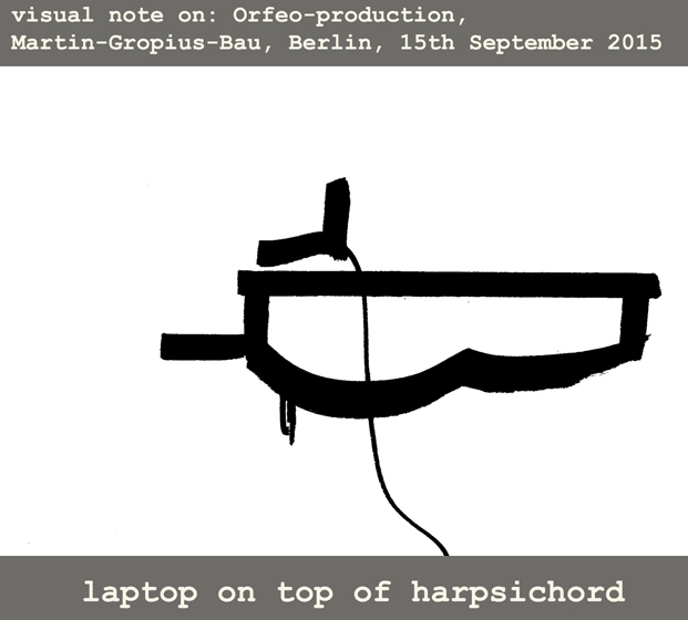 1.Laptop on top of harpsichord
