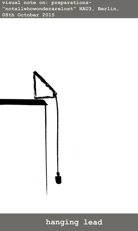 Hanging lead