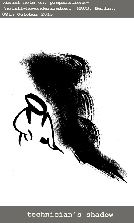 Technician's shadow