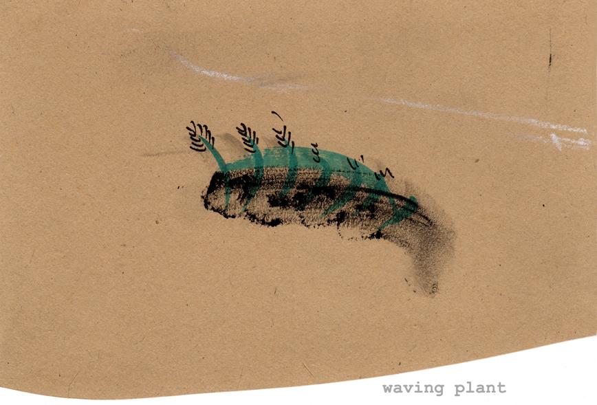 Waving plant