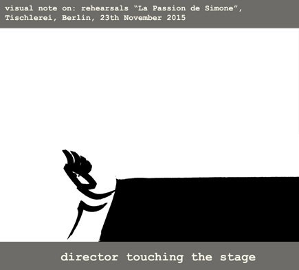 1.Director touching the stage